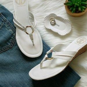 Lilly Pulitzer McKim o ring wedge sandals